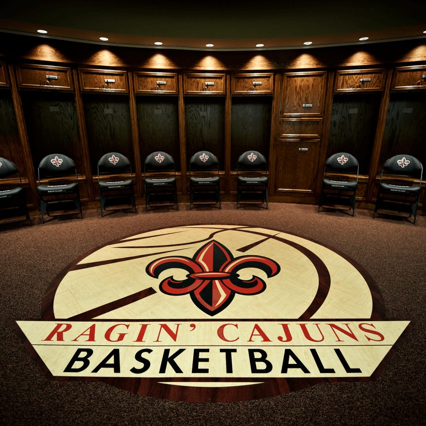 ULL BASKETBALL TEAM LOCKER ROOM CAJUNDOME